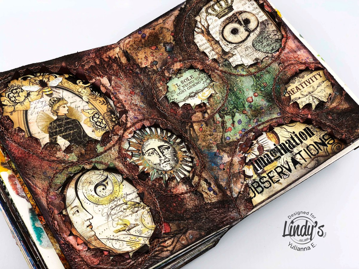 "Mixed Media Artbook ""Imagination"" with Yulianna"
