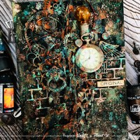 Steampunk Canvas and Rust Effect Technique with Anat