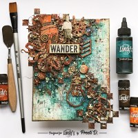 DIY Rust Pastes on a Nautical Steampunk Canvas with Preeti D.