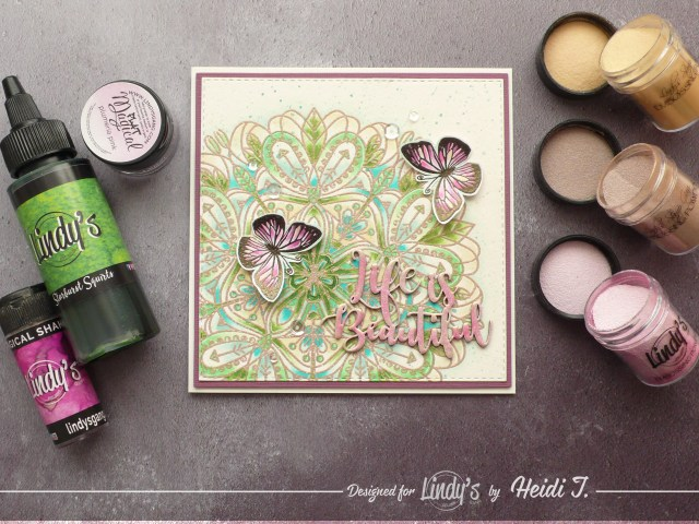 How to create fun backgrounds on your card designs using Lindy's products