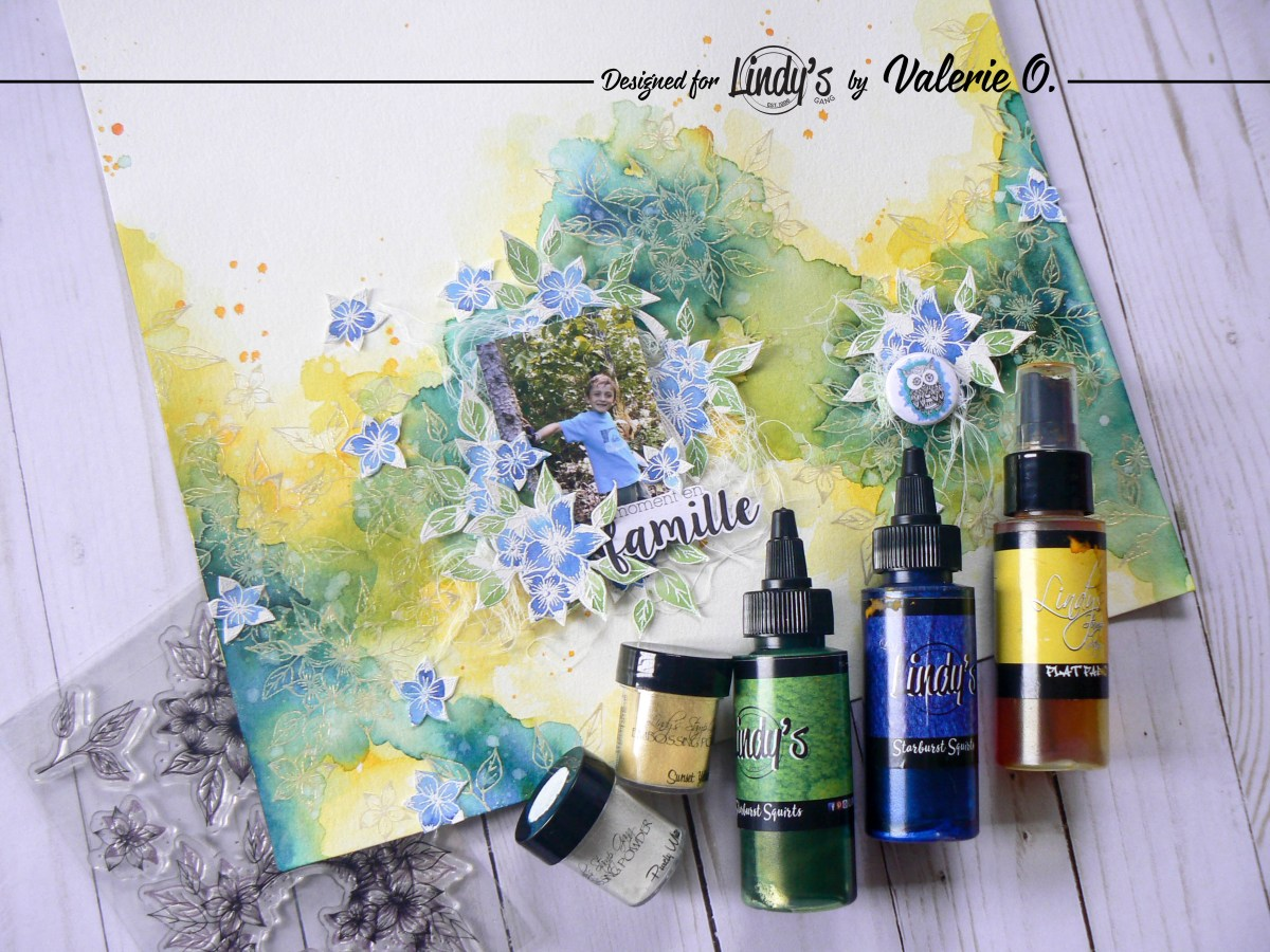 Textured Watercolor Background with Embossing Powder