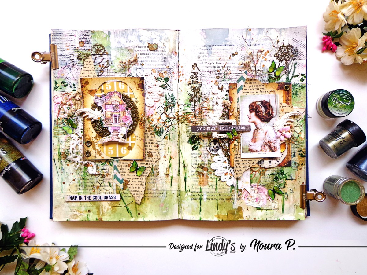 Spring Art Journal using Squirts by Noura Pompilla