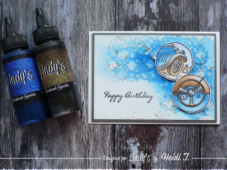 Step by step tutorial on how to create easy and fun masculine birthday cards