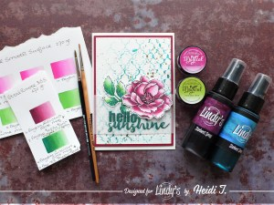 what do you need to watercolor with Lindy's products