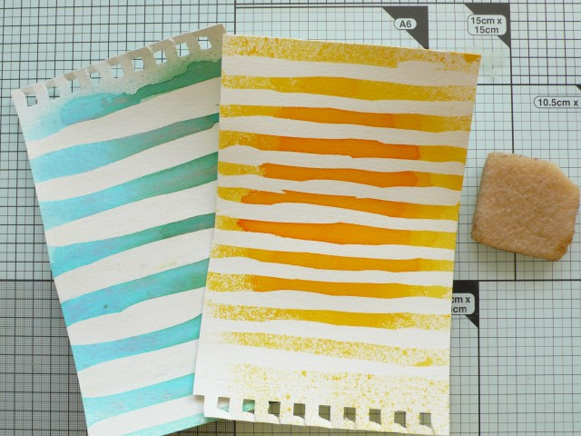 Step by step tutorial on how to create a striped background using Lindy's