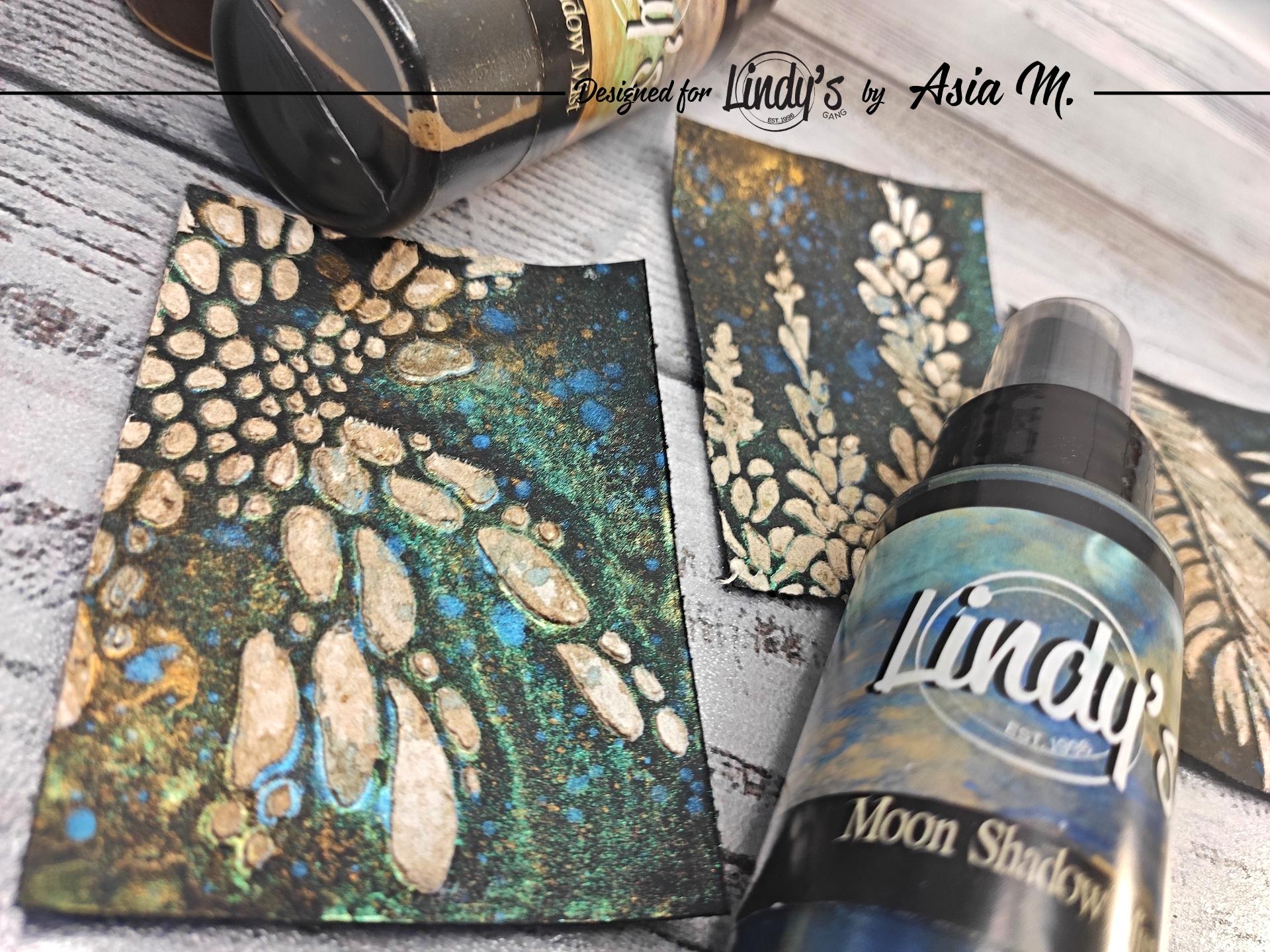 Are you afraid to work on black paper? Don't be, use Lindy's! Lean how with Asia