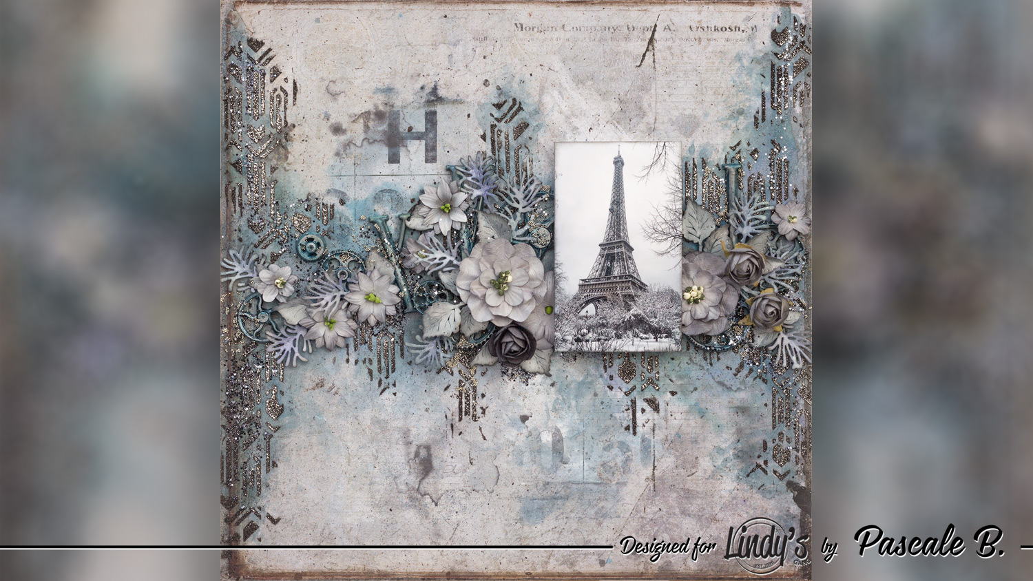 Eiffel Tower - Mixed media layout by Pascale B.