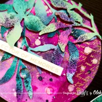 Create Round Postcards with Bright Backgrounds using Lindy's Magicals