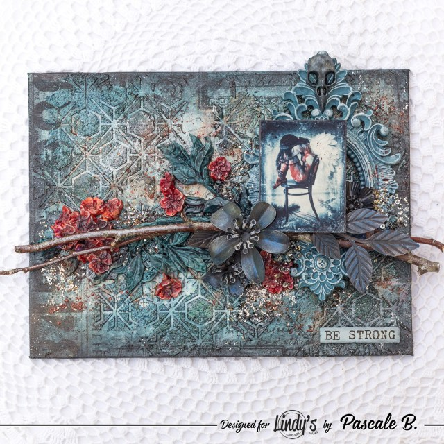 Be Strong - Mixed media panel by Pascale B.