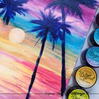 Paint a Tropical Sunrise with Lindy's Magicals and Viktoriya P.