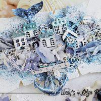 Penguin In the City - Mixed Media Board By Olga Ravenskaya