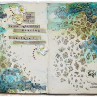 'Keep Calm and Make Art'-- Journal Spread by Marta Lapkowska