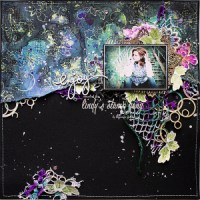 Scrapbook Layout with Drop Dead Diva