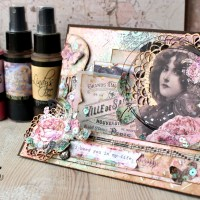 Create a Vintage Step Card with Elena Martynova