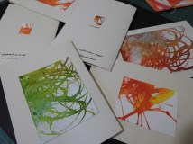 Abstract ink cards