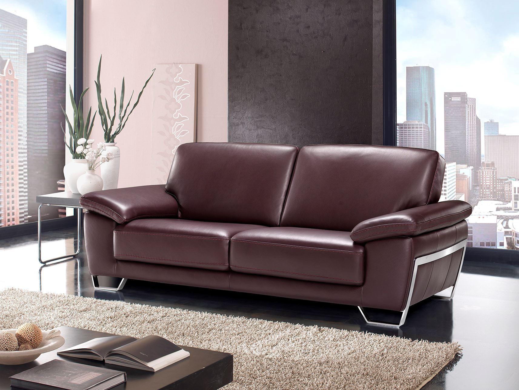 Satis Speed Italian Leather Sofa  Linea Design