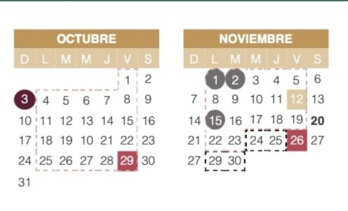 October will arrive with the SEP school bridge, but November will be crazy;  know the dates