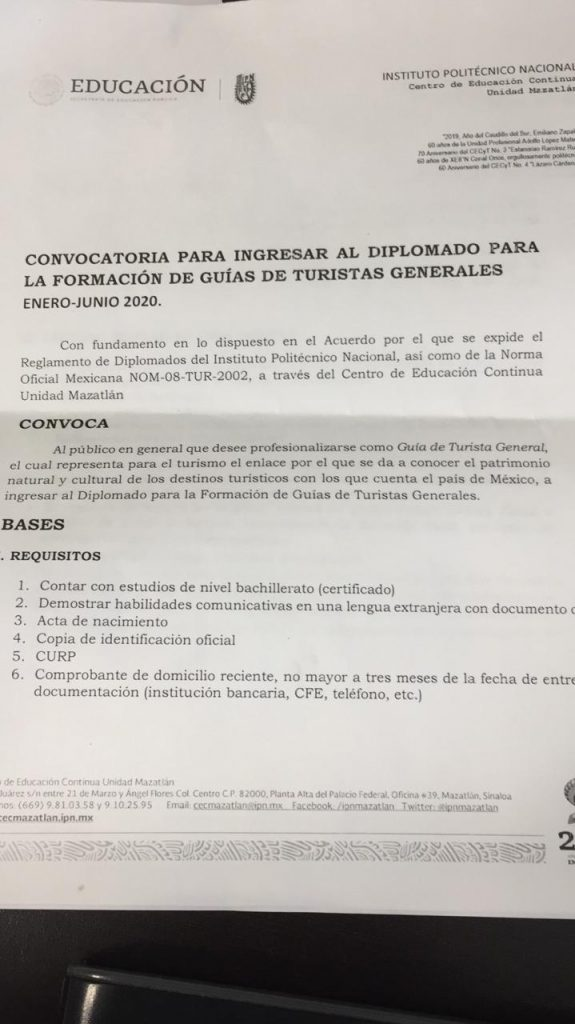 With A Diploma Sectur And Ipn Mazatlan Will Increase The