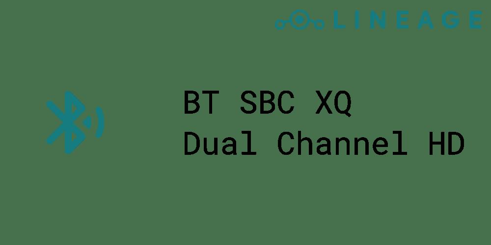 Bluetooth SBC Dual Channel HD audio mode