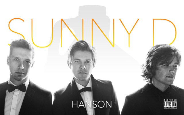 """""""Whatchu want, soda? Some purple stuff?"""" Hanson poses for 'Sunny D' album cover. (AP Photo)"""