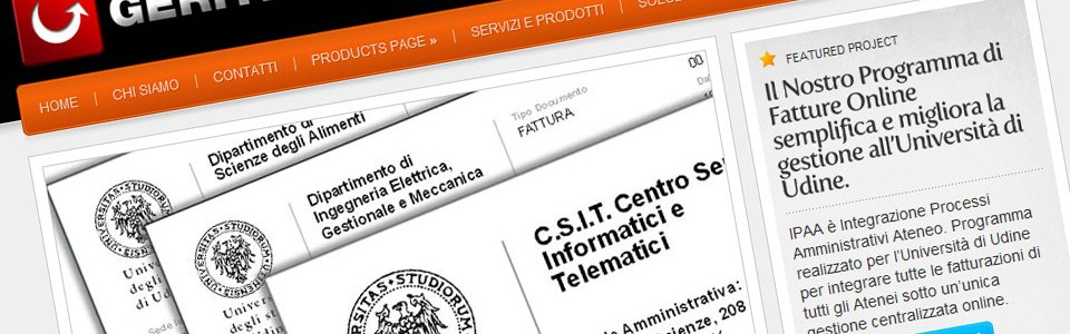 GERITEC.it, sito web.