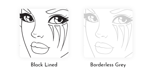 You can color Line Artsy free coloring pages using black-lined or borderless grey versions