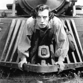 """""""El maquinista de La General"""" (""""The General""""), de Buster Keaton y Clyde Bruckman (1926)."""