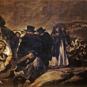 """""""La pradera de San Isidro"""" (1788) y """"La peregrinación a San Isidro"""" (entre 1820 y 1823), de Francisco de Goya."""
