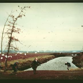 """""""Un repentino golpe de viento al estilo de Hokusai"""", de Jeff Wall (1993)."""