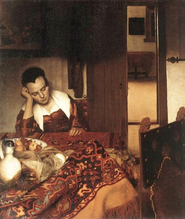 joven durmiendo circa 1657