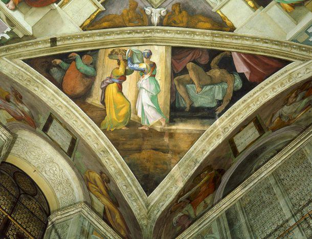 Judith con la cabeza de Holofernes.
