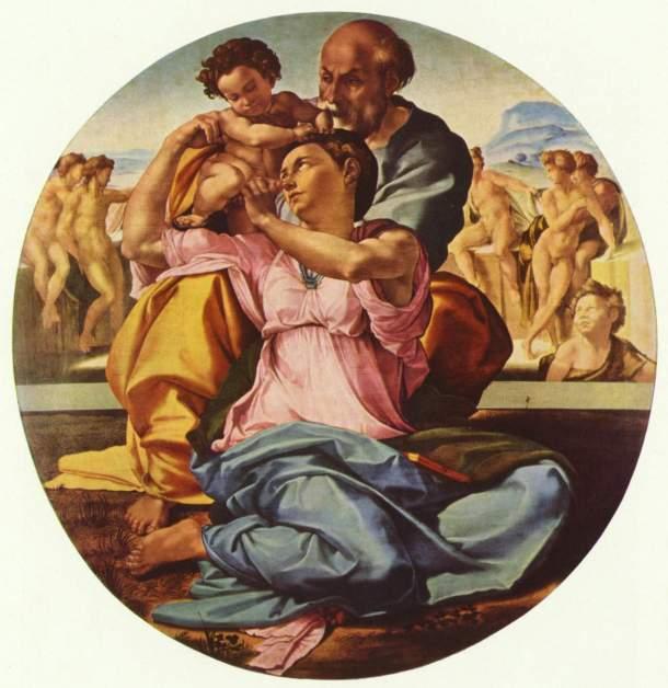 """""""La Sagrada Familia con San Juan Bautista"""" (1503-1504)."""