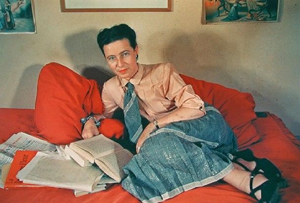 Simone de Beauvoir, 1952.