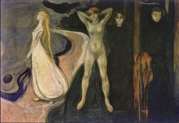 Munch la mujer en tres estadios 1894