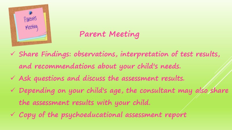 The Process of Psychology Assessments in schools 19