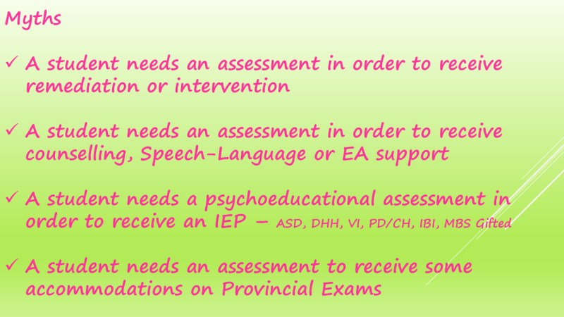 The Process of Psychology Assessments in schools 27