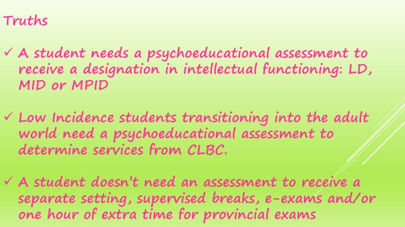 The Process of Psychology Assessments in schools 28