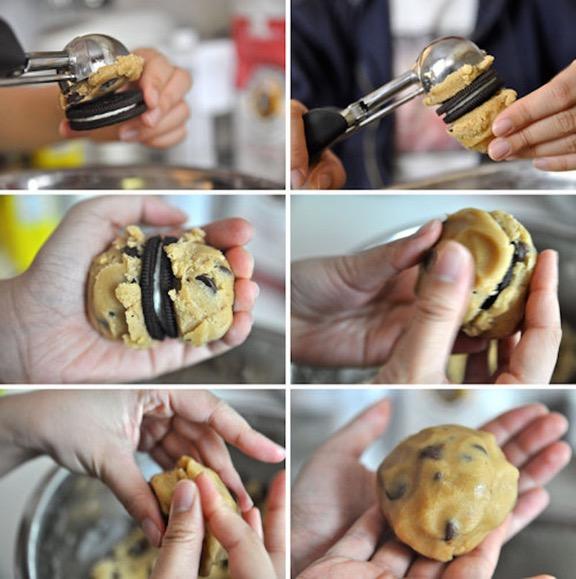 Μπισκότα γεμιστά με OREO 2