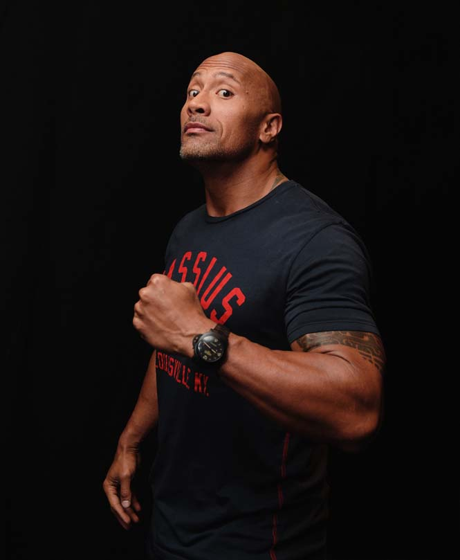 LOS ANGELES, CA - JULY 17: (EDITORS NOTE: Image processed using digital filters) Actor Dwayne Johnson attends Nickelodeon Kids' Choice Sports Awards 2014 on July 17, 2014 in Los Angeles, California. (Photo by Jason Kempin/Getty Images)