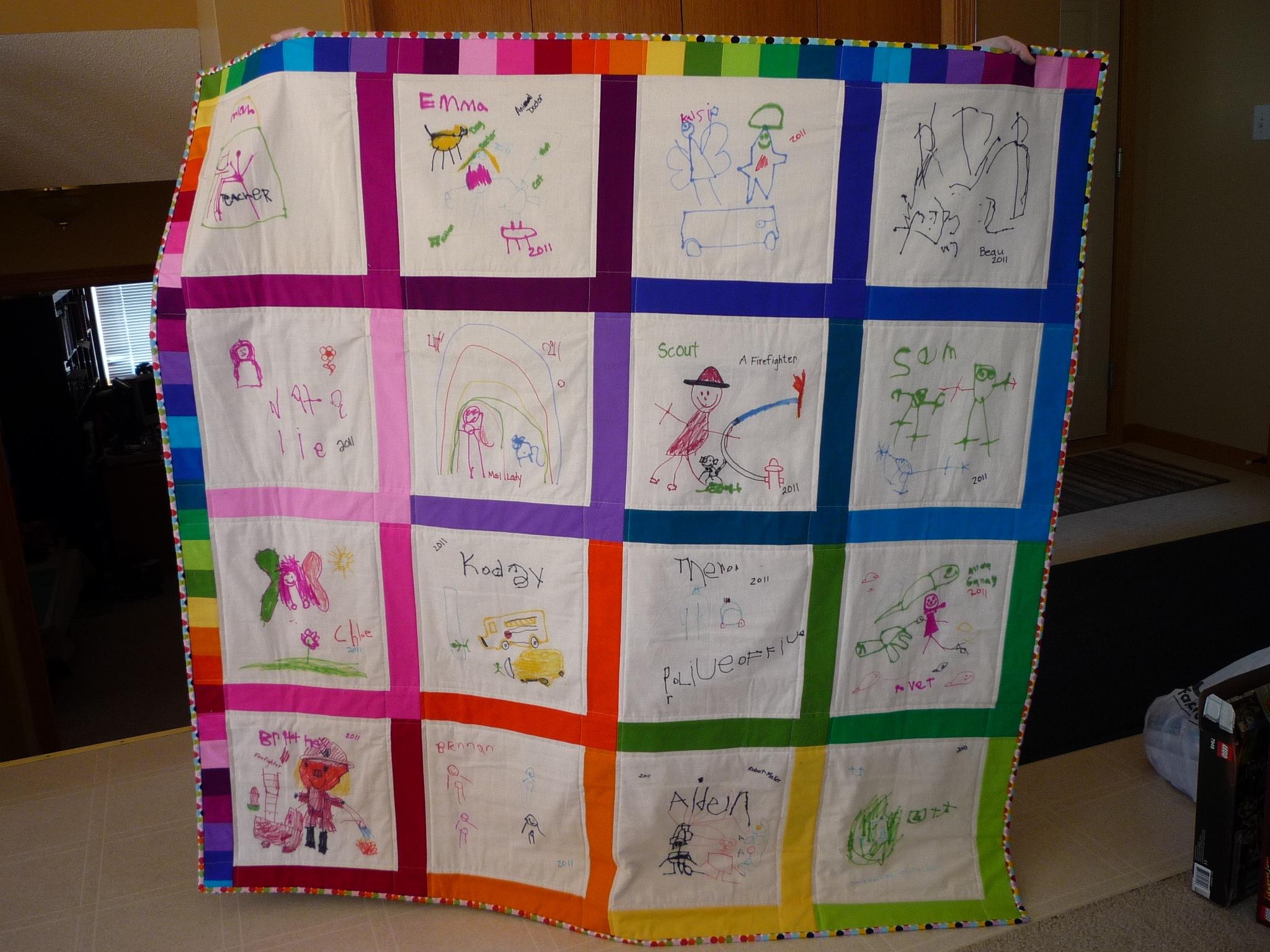 Rainbow Preschool Quilt