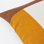 Linen and Stripes leather color retro mustard3