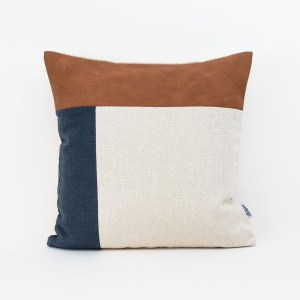 Linen and Stripes leather color retro navy1