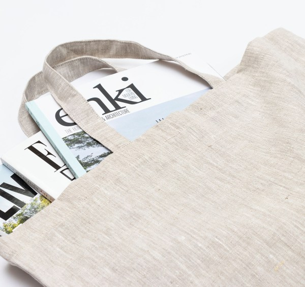 Linen and Stripes linen tote bags beige3