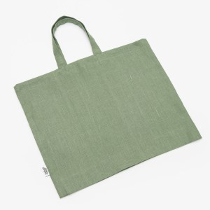 Linen and Stripes linen tote bags moss green1