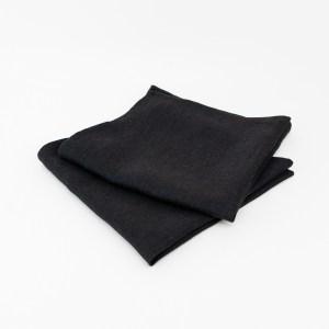 linen and stripes napkin black1