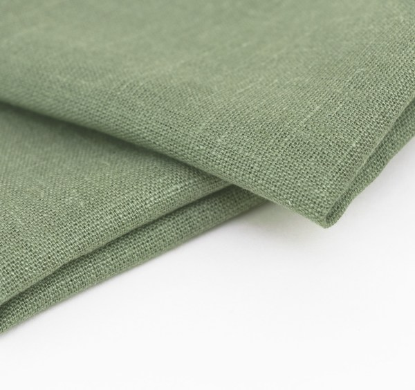 linen and stripes napkin green3