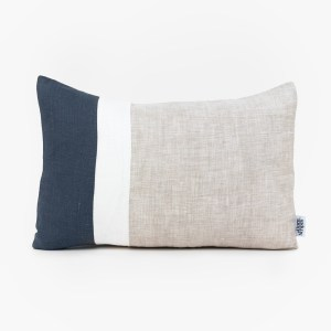 navy plain geometric lumbar linen and stripes1