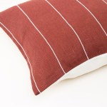 red plain geometric linen and stripes1a