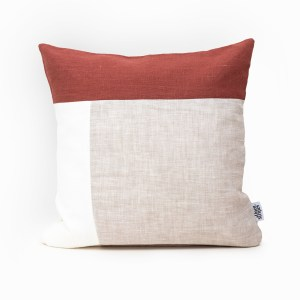 red plain geometric linen and stripes4