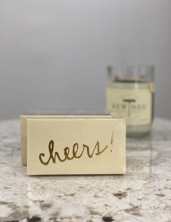 Rewined Gold Foil Cheers Matchbox